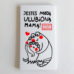 """magnes na lodówkę prostokątny 5x9 """"jesteś moją ulubioną mamą!"""""""