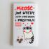 """magnes na lodówkę prostokątny 5x9 """"miłość jest wtedy, kiedy ktoś karmi i przytula"""""""